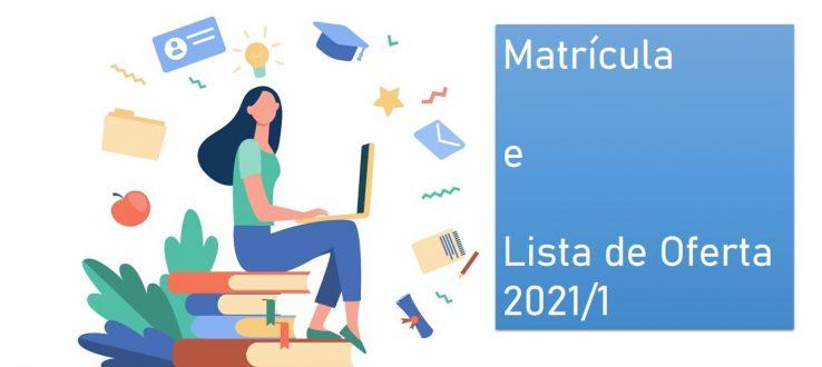 (Português do Brasil) Informações para a matrícula 2021.1 de alunos regulares