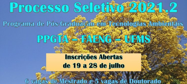 (Português do Brasil) PPGTA abre inscrições para o Processo Seletivo 2021.2 – Mestrado e Doutorado
